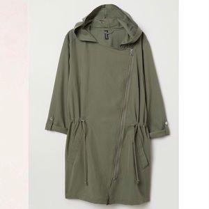 3/$20 H&M Modal-Blend Parka Khaki Green sz 4